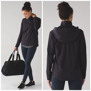Lululemon Black Step To It Hooded Jacket